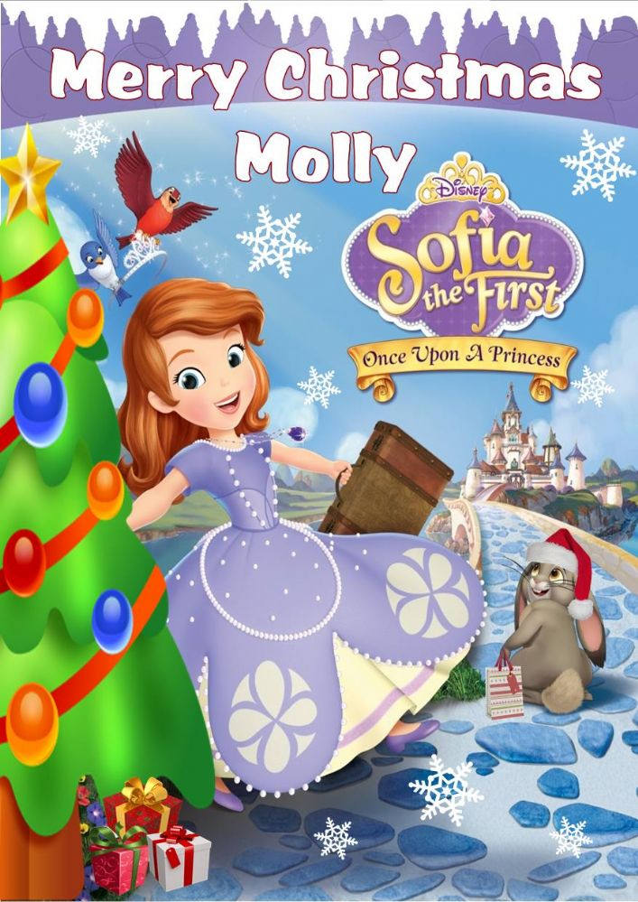 Personalised Sofia The First Christmas Card